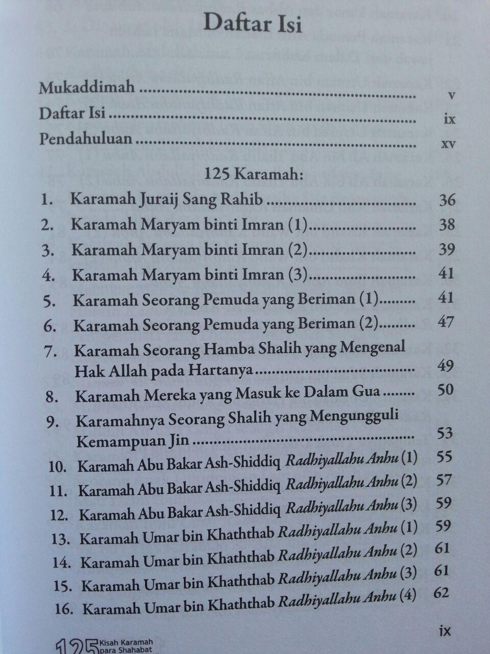 Buku 125 Kisah Karamah Para Shahabat Dan Orang Shalih isi 3