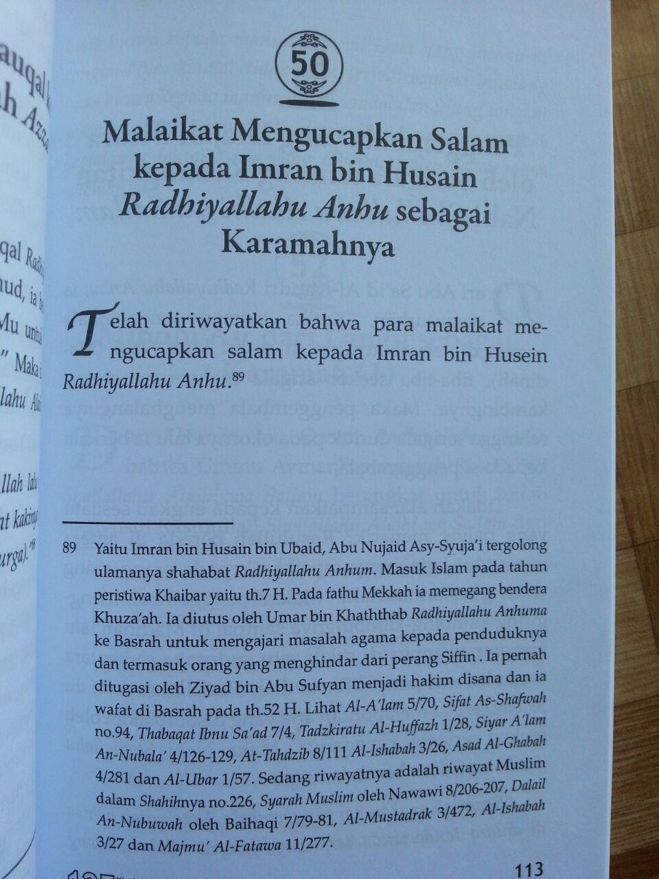 Buku 125 Kisah Karamah Para Shahabat Dan Orang Shalih isi 4