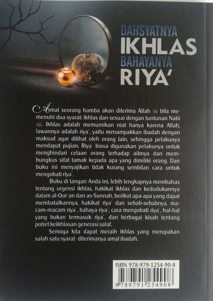 Buku Dahsyatnya Ikhlas Bahayanya Riya cover