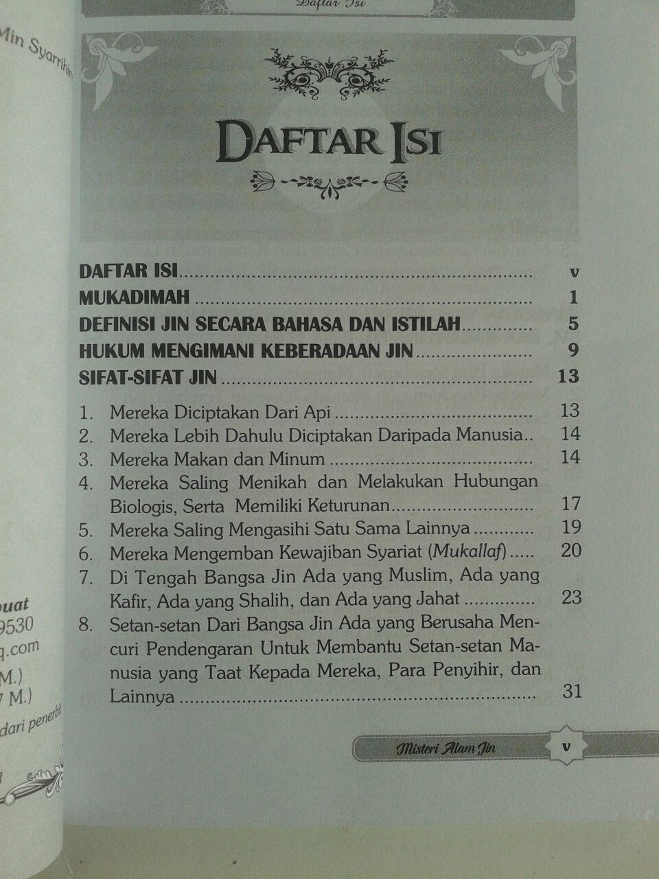 Buku Misteri Alam Jin Berdasarkan Al-Quran dan As-Sunnah isi
