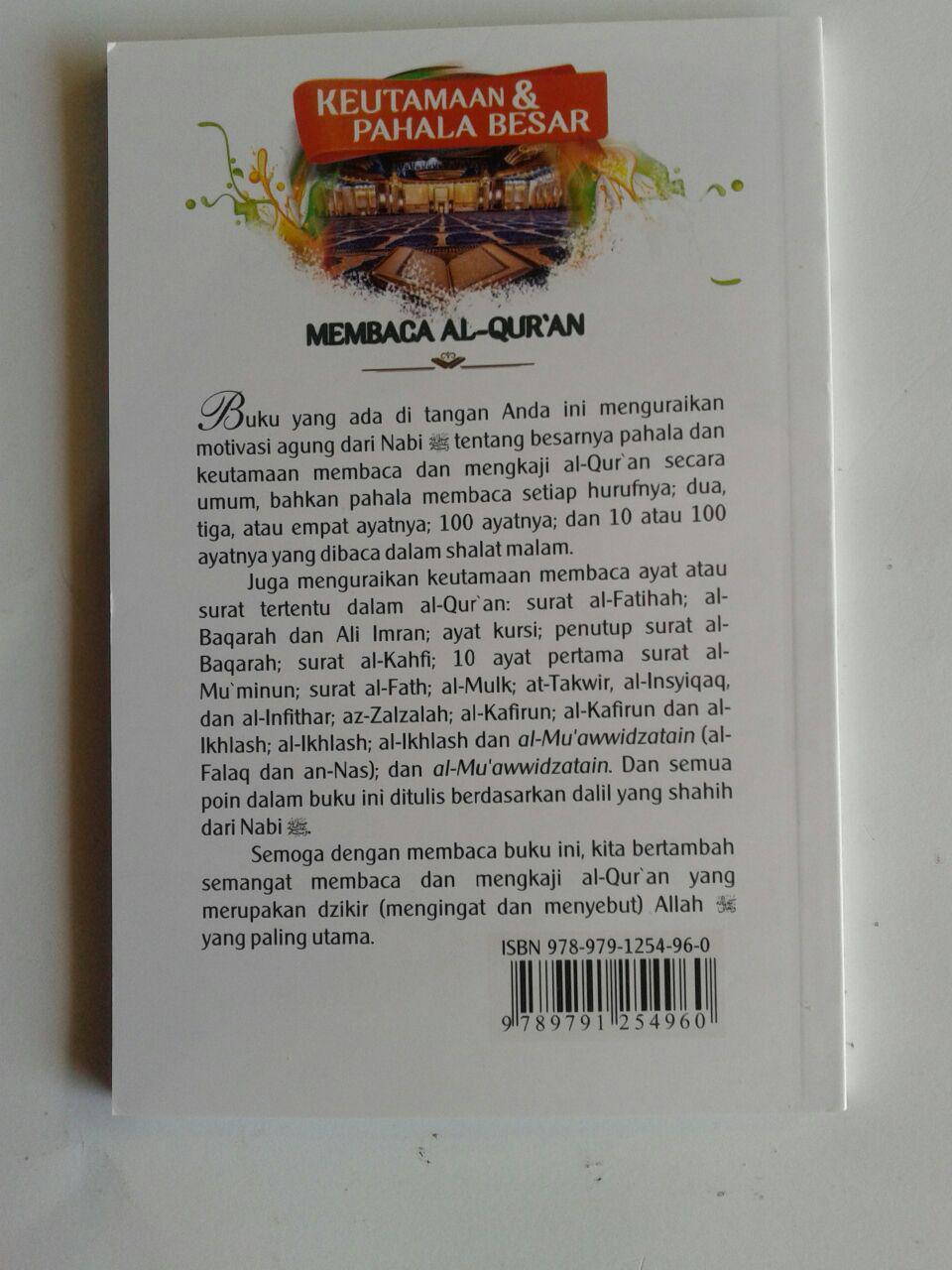 Buku Saku Keutamaan Dan Pahala Besar Membaca Al-Qur'an cover