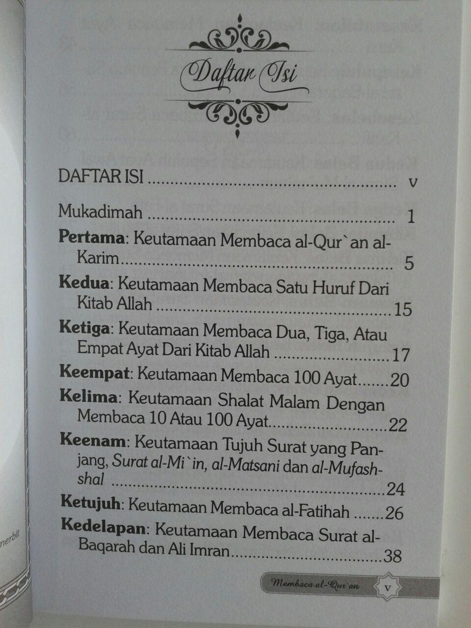 Buku Saku Keutamaan Dan Pahala Besar Membaca Al-Qur'an isi