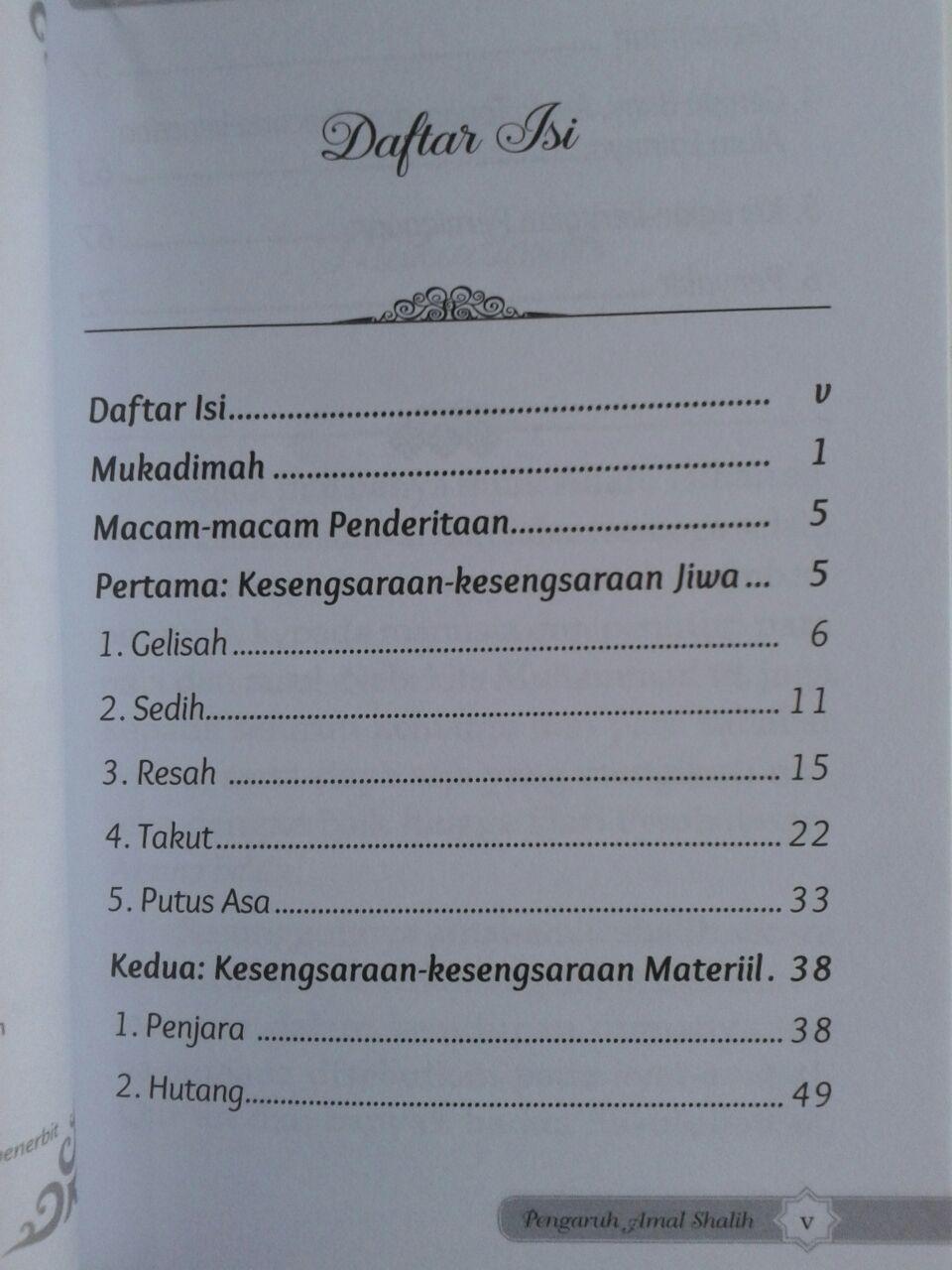 Buku Saku Dahsyatnya Pengaruh Amal Shalih Dalam Kehidupan isi 2