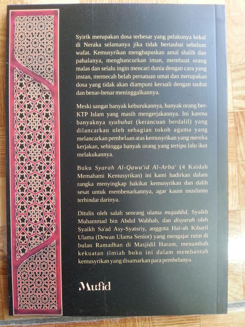 Buku Syarah al-Qawa'id al-Arba' 4 Kaidah Memahami Kemusyrikan cover
