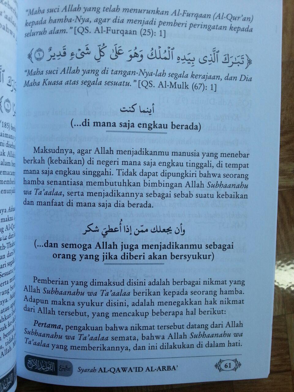 Buku Syarah al-Qawa'id al-Arba' 4 Kaidah Memahami Kemusyrikan isi 3