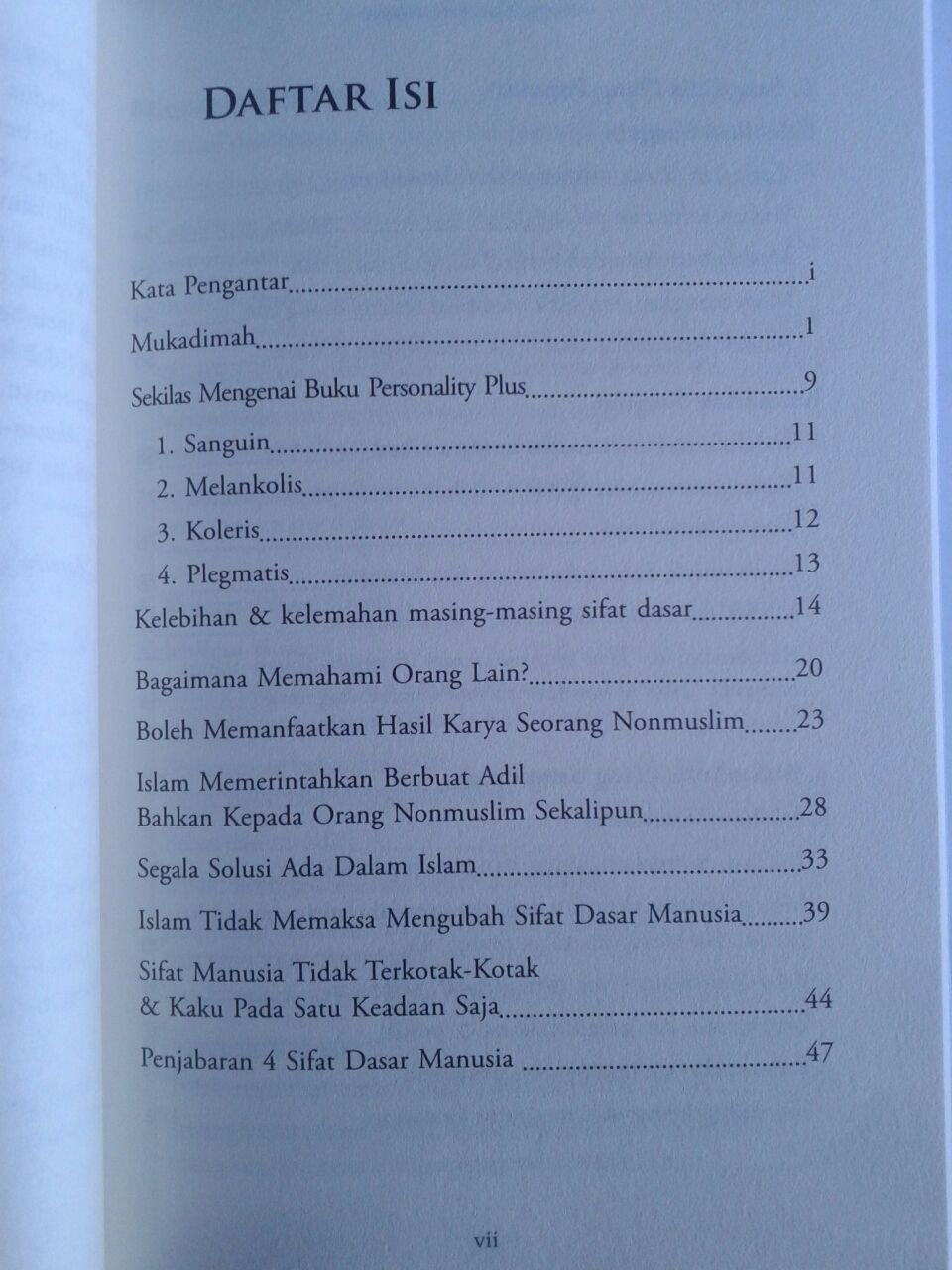 Buku Psikologi Islam Yang Sempurna isi