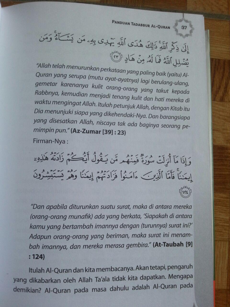 Buku Panduan Tadabbur Al-Quran isi 3