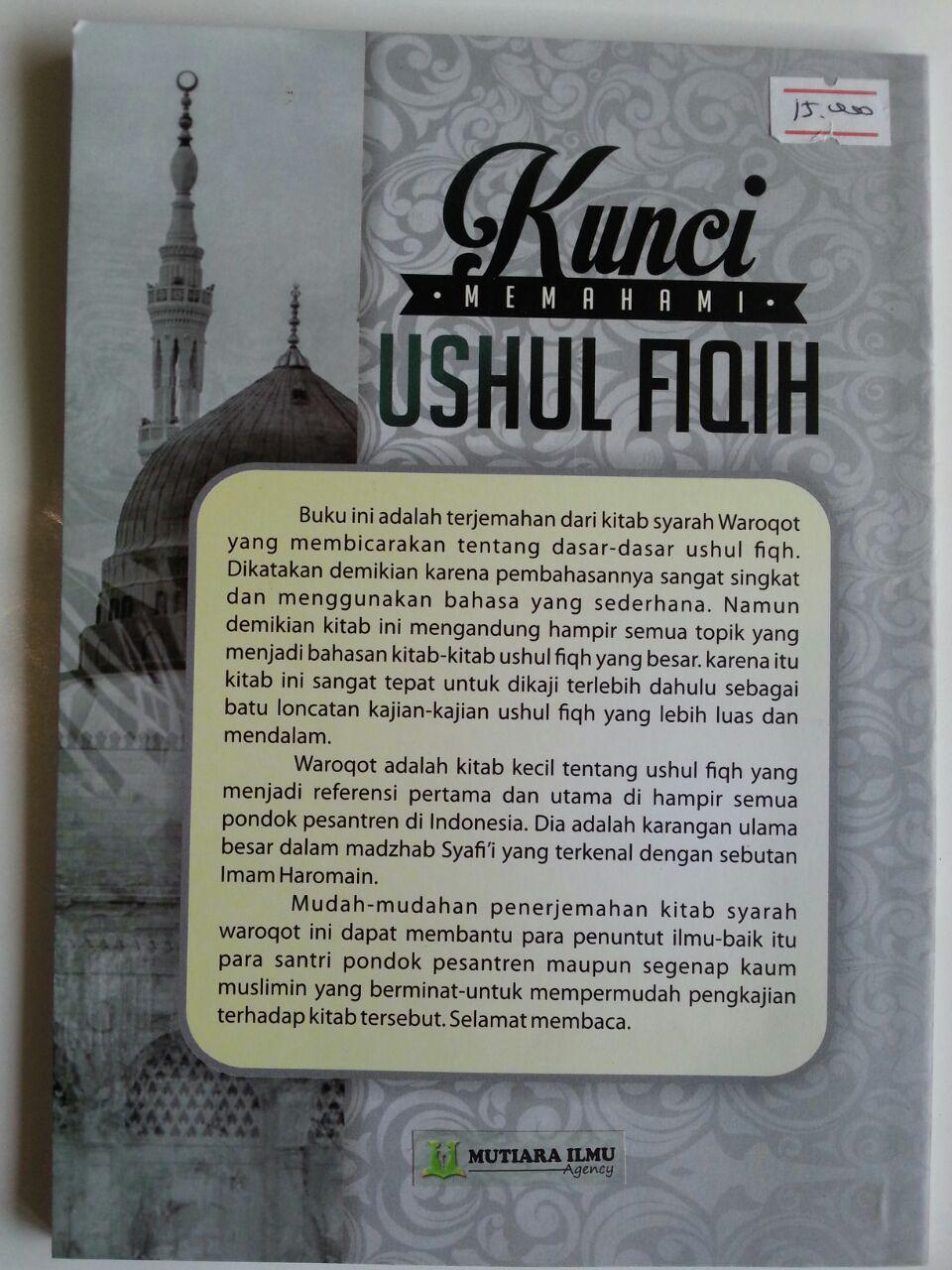 Buku Terjemah Syarah Waroqot Kunci Memahami Ushul Fiqh cover
