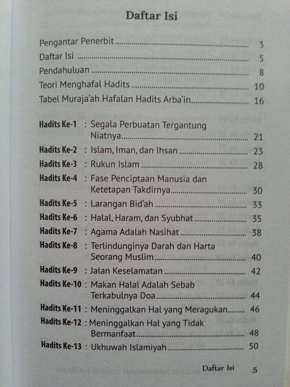 Buku Hadits Arba'in Nawawiyah Untuk Hafalan isi 2