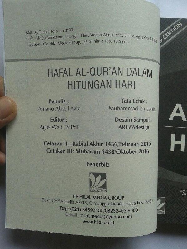 Buku Hafal Al-Qur'an Dalam Hitungan Hari isi 3