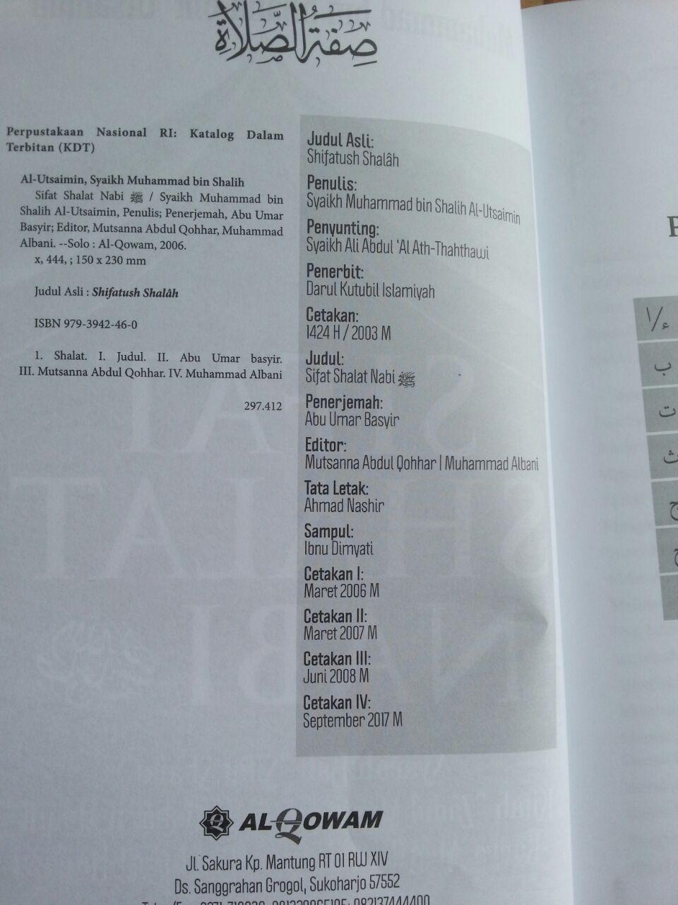 Buku Sifat Shalat Nabi Oleh Syaikh Utsaimin isi 2