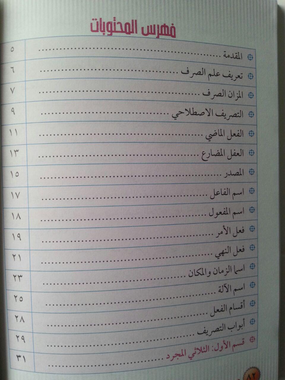 Buku Mudah memahami Tashrif Istilahi 1 Untuk Pemula isi 2