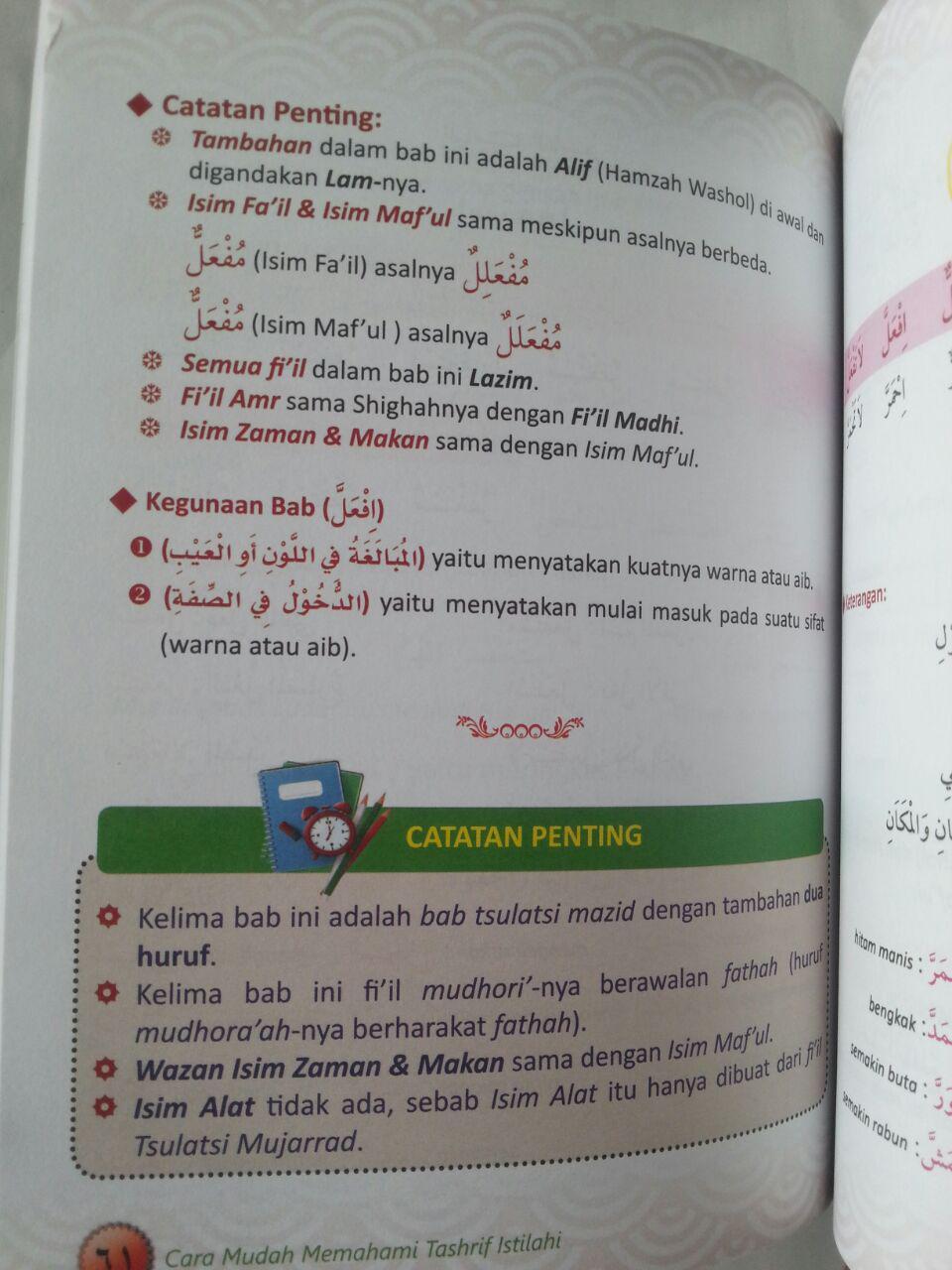 Buku Mudah memahami Tashrif Istilahi 1 Untuk Pemula isi 3
