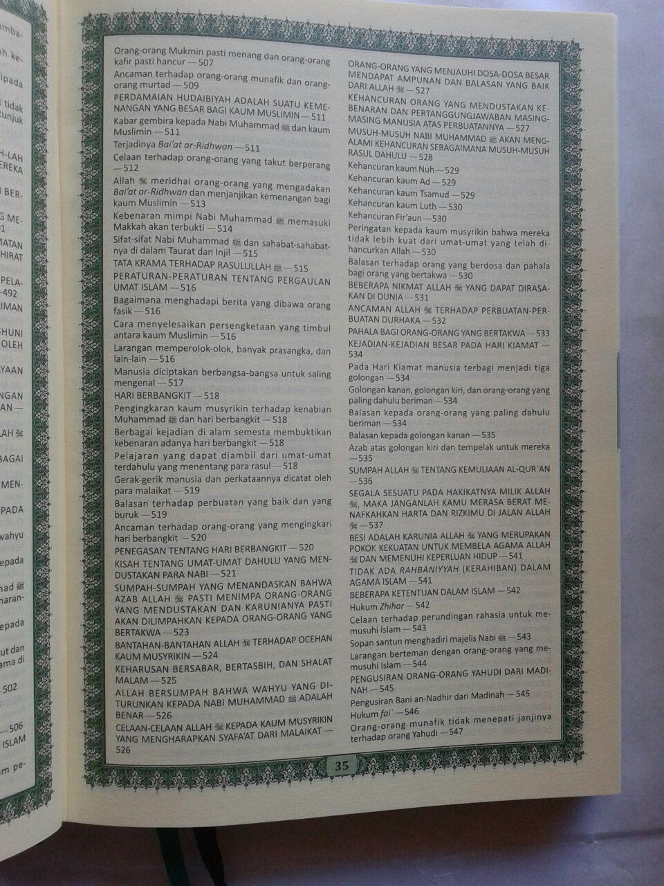 Al-Qur'an MushafDan Terjemahnya Ukuran A5 isi 3