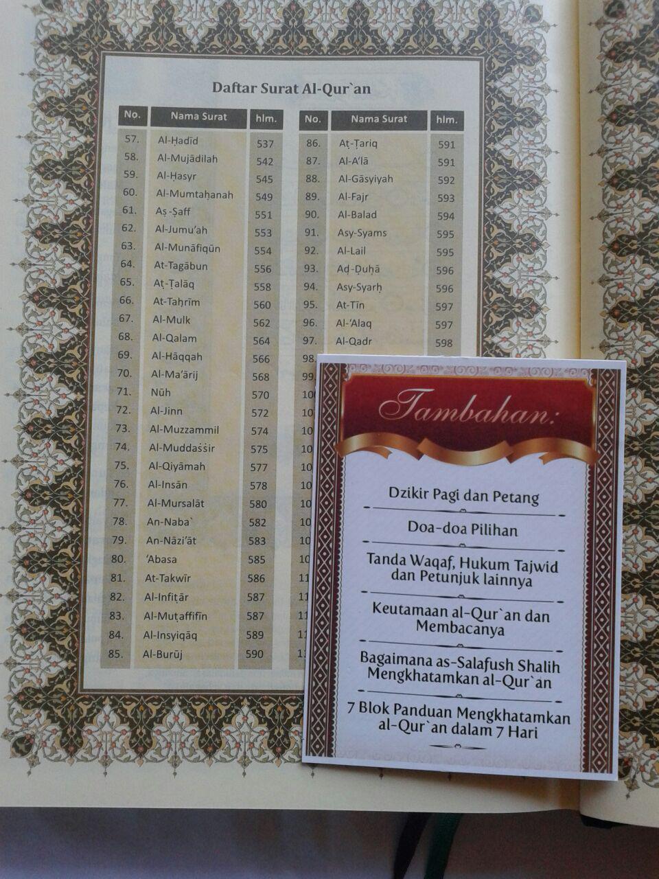 Al-Qur'an MushafDan Terjemahnya Ukuran A5 isi 4