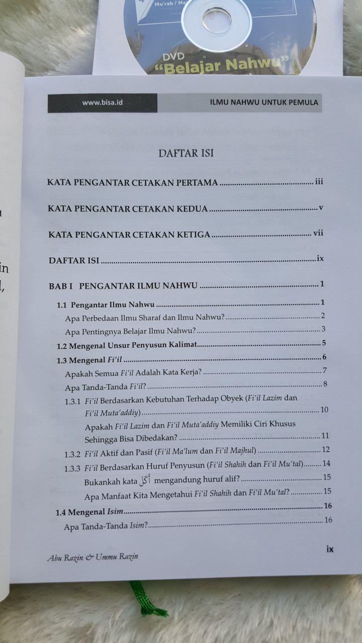 Buku Ilmu Nahwu Untuk Pemula Belajar Plus Rumus Sakti Contoh Aplikatif Daftar Isi