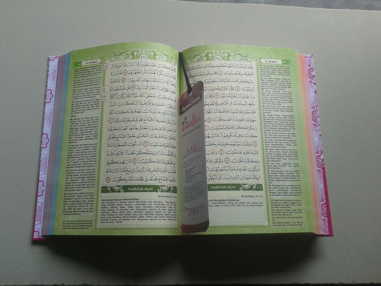 Al-Qur'an Mushaf Tajwid Azalia Dilengkapi Asbabun Nuzul Fadhilah Ayat isi 2