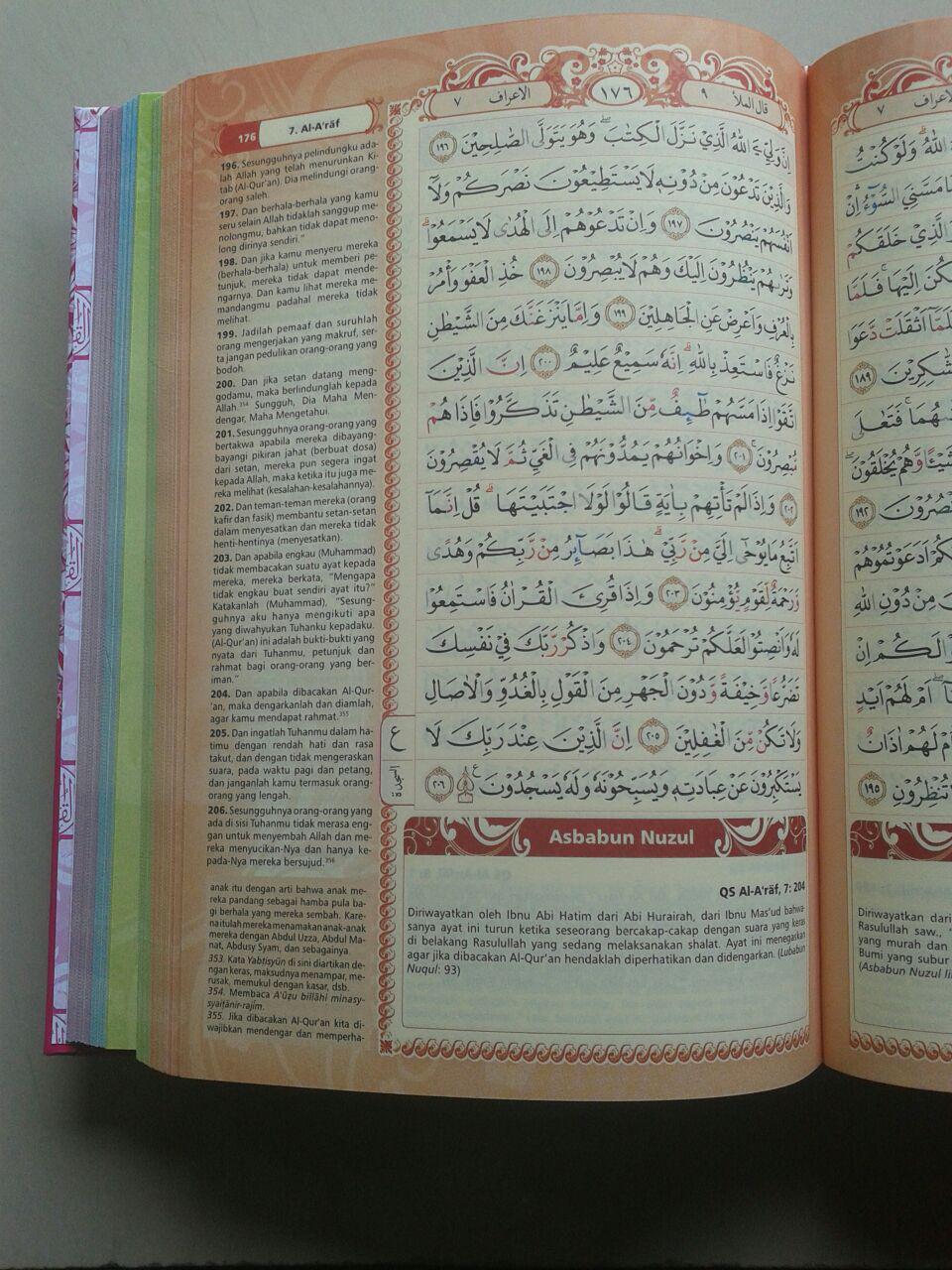 Al-Qur'an Mushaf Tajwid Azalia Dilengkapi Asbabun Nuzul Fadhilah Ayat isi