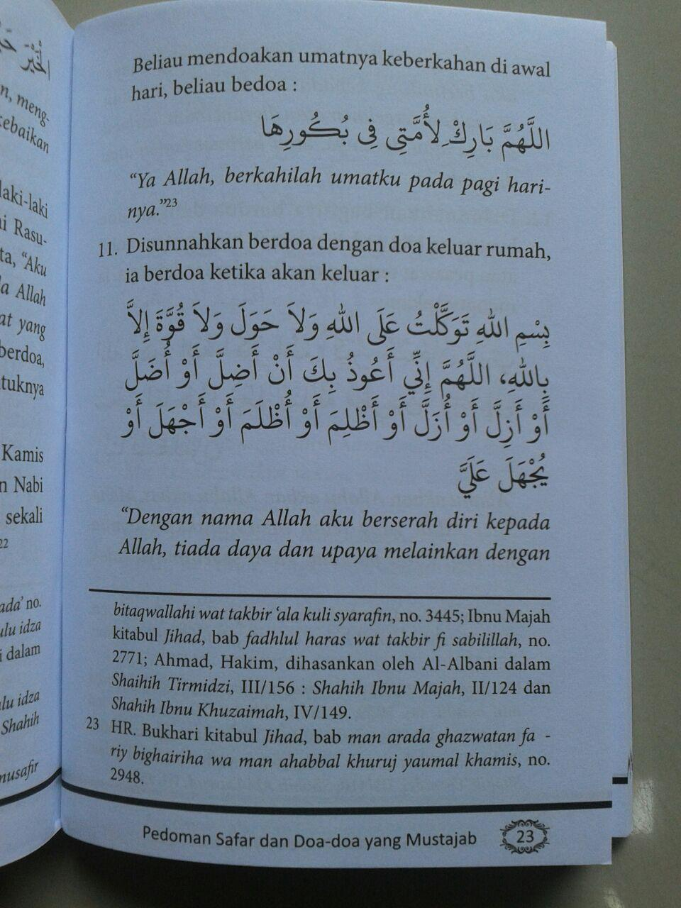 Buku Saku Pedoman Safar Doa Doa Yang Mustajab & Adab Adab Musafir isi