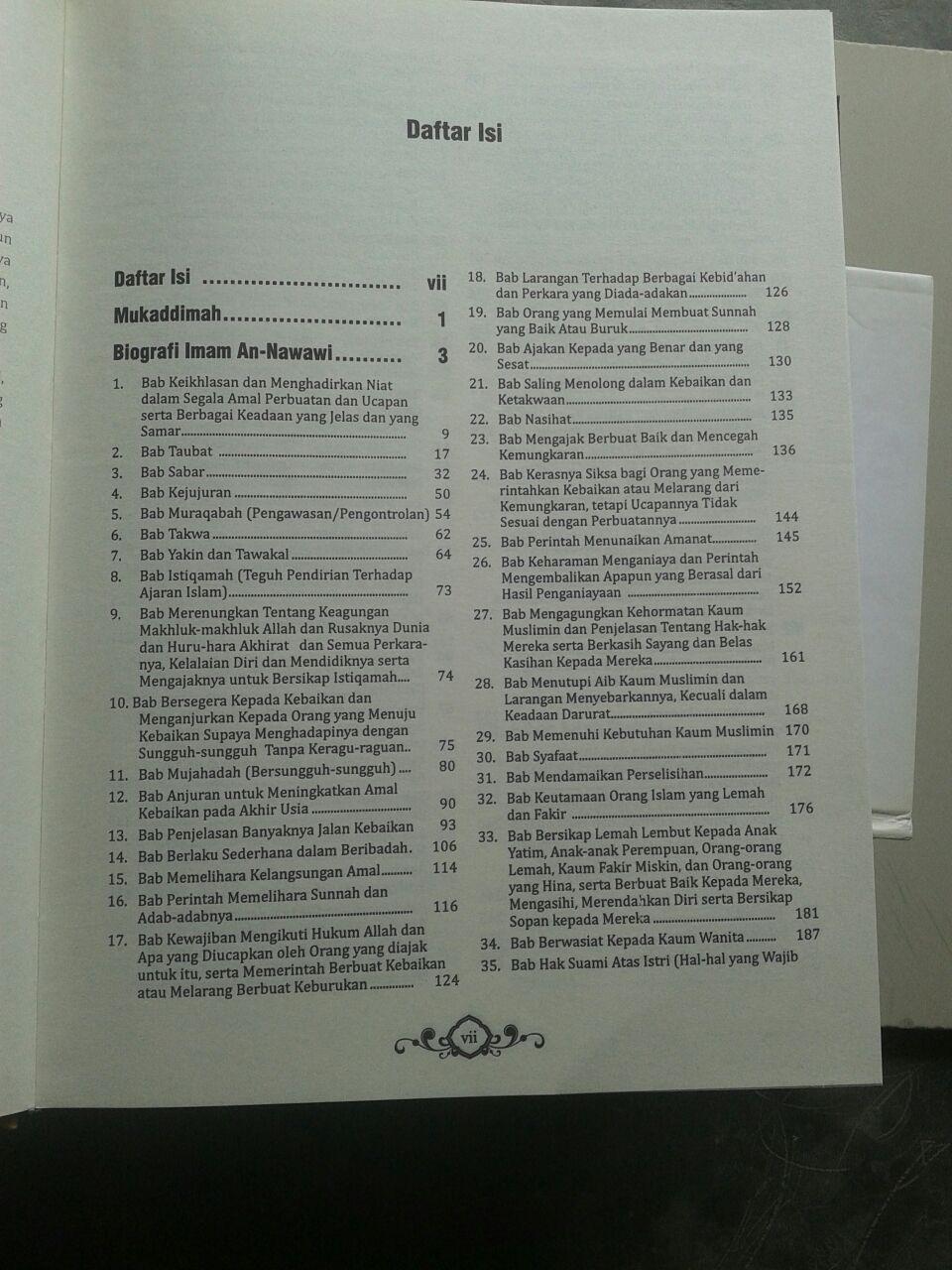 Buku Terjemah Riyadhus Shalihin isi 2