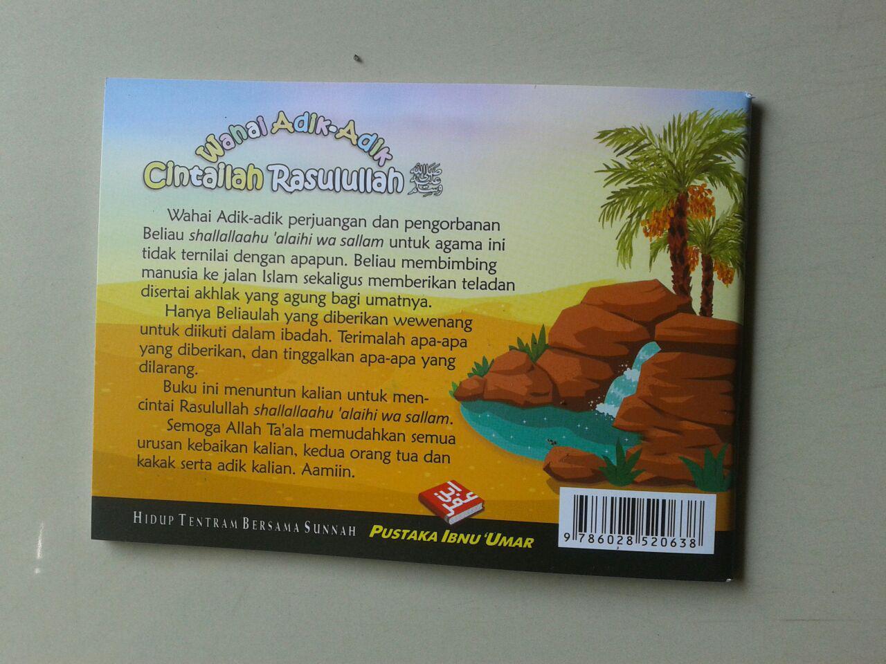 Buku Saku Anak Wahai Adik Adik Cintailah Rasulullah cover