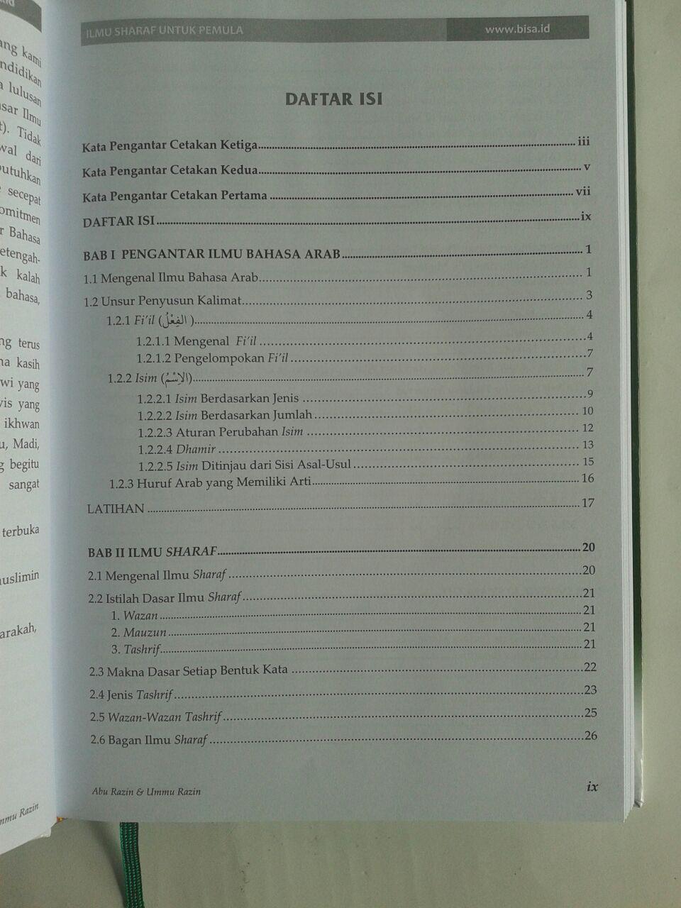 Buku Ilmu Sharaf Untuk Pemula isi 2