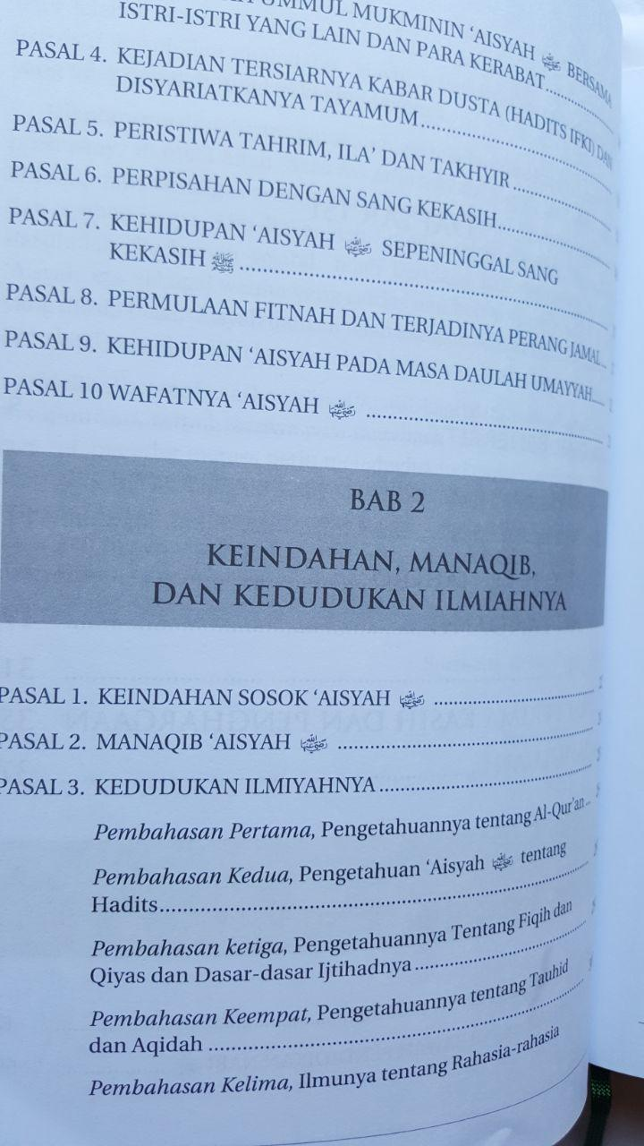 Buku Ummul Mukminin Aisyah Potret Wanita Mulia Sepanjang Masa isi 3