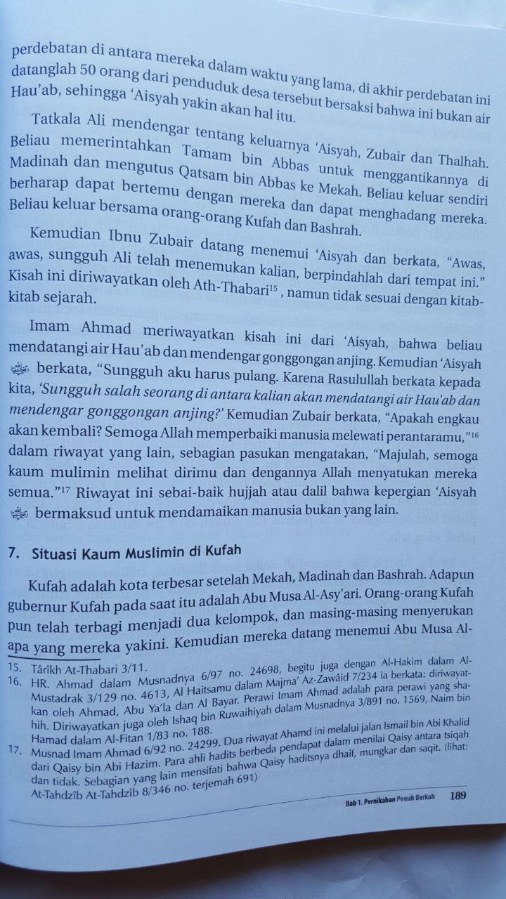Buku Ummul Mukminin Aisyah Potret Wanita Mulia Sepanjang Masa isi