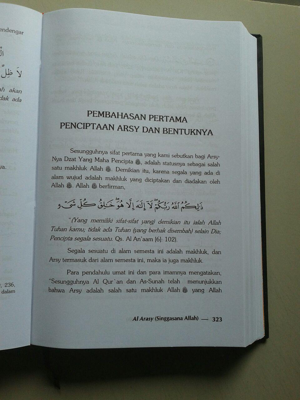 Buku Al Arasy Singgasana Allah Ta'ala isi 2