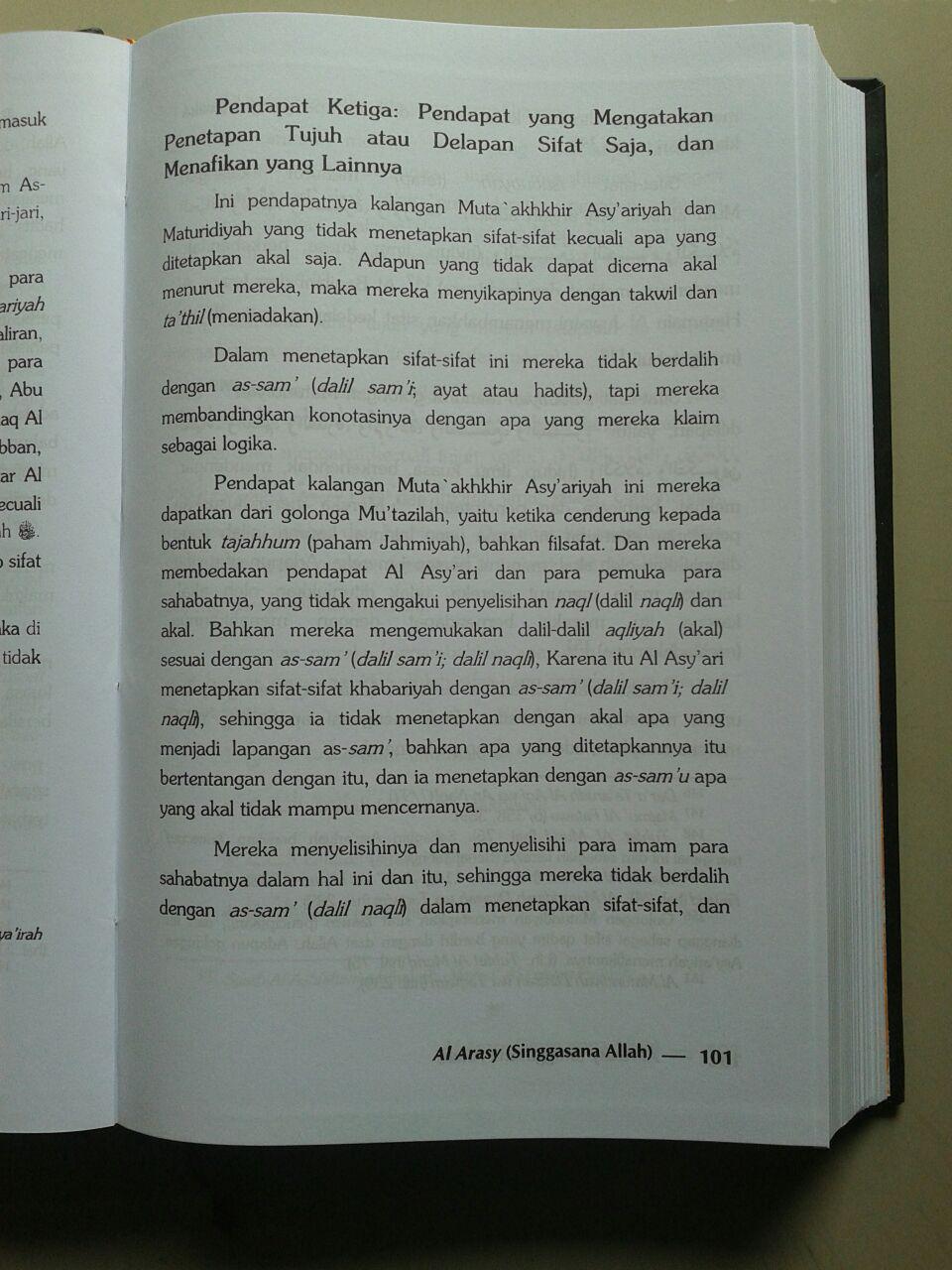 Buku Al Arasy Singgasana Allah Ta'ala isi