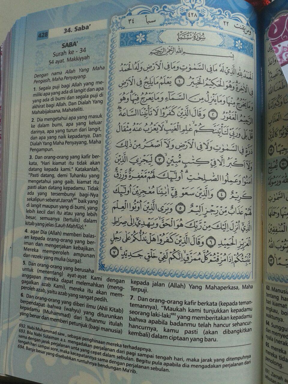 Al-Qur'an Mushaf Terjemah Yasmina Sampul Kancing Magnet Ukuran B6 isi 2