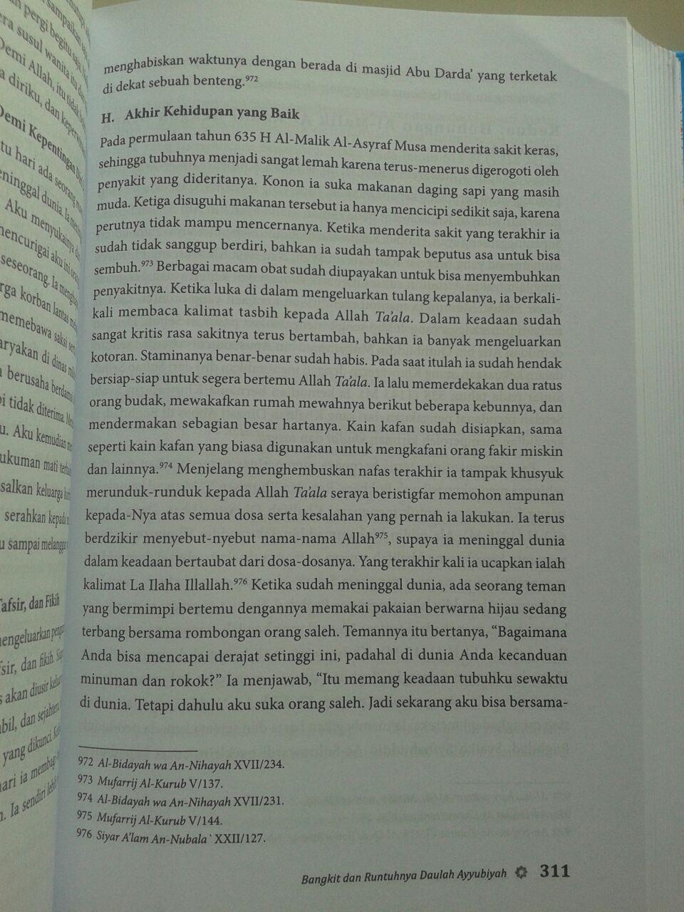 Buku Bangkit Runtuhnya Daulah Ayyubiyah isi