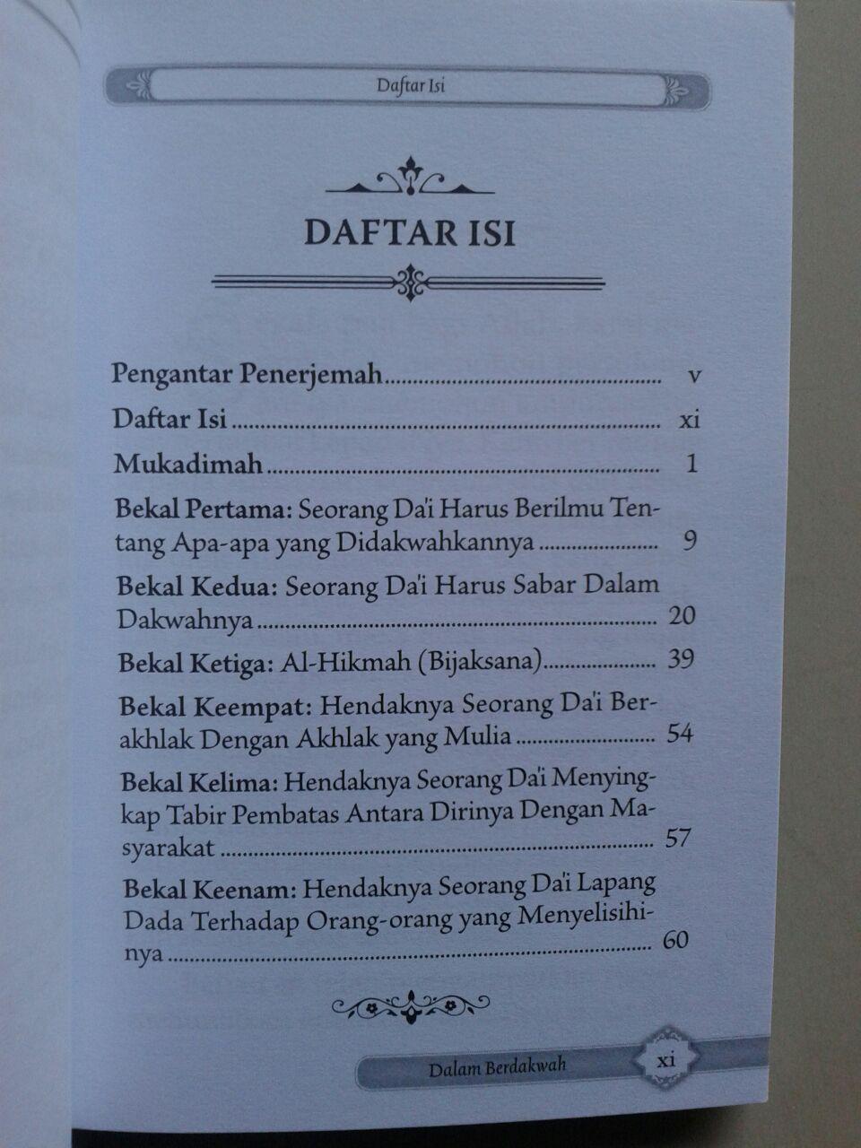 Buku Saku Bekal Setiap Muslim Berdakwah Agar Dakwah Mudah Diterima isi