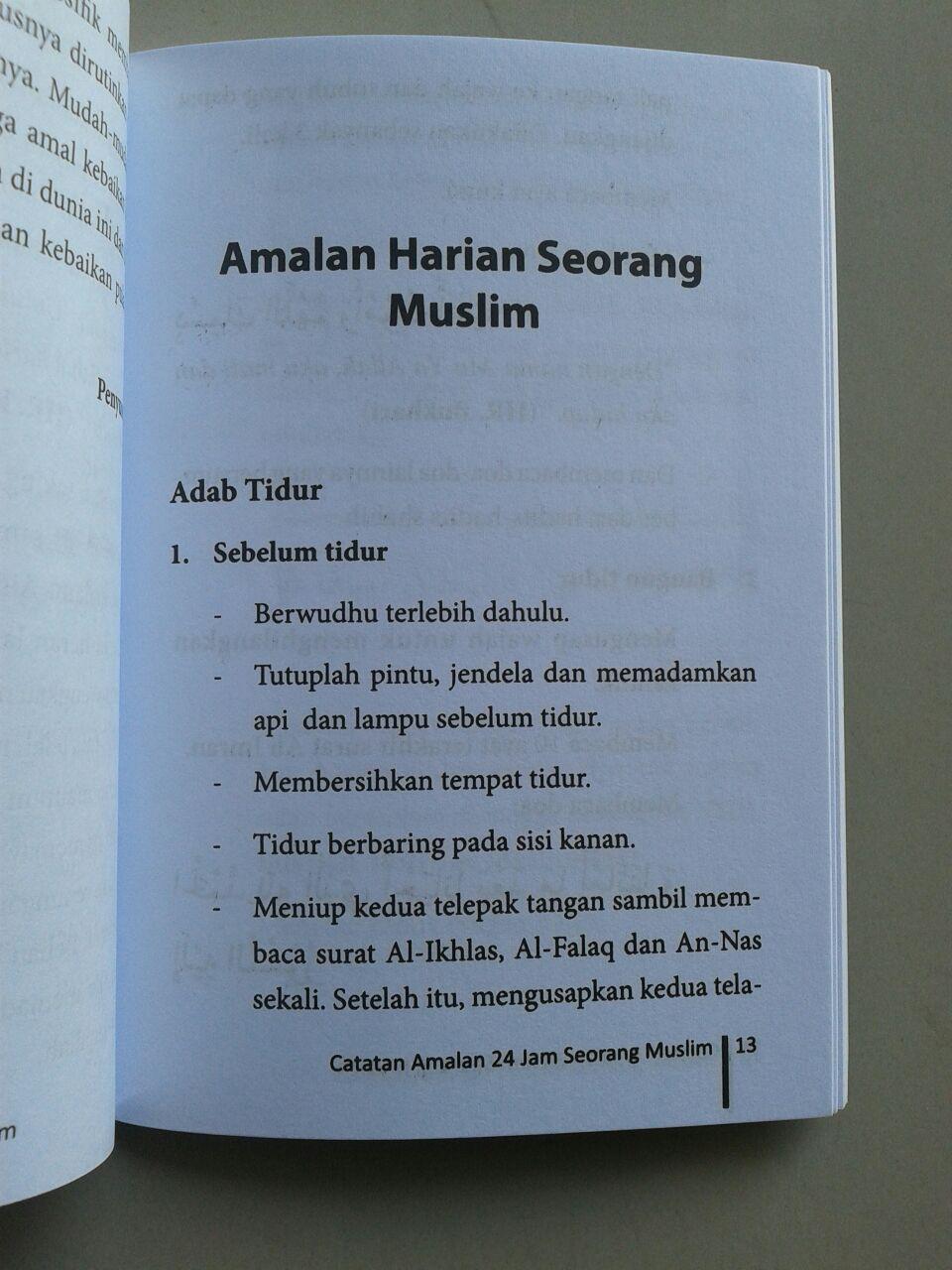 Buku Saku Catatan Amalan 24 Jam Seorang Muslim isi 2