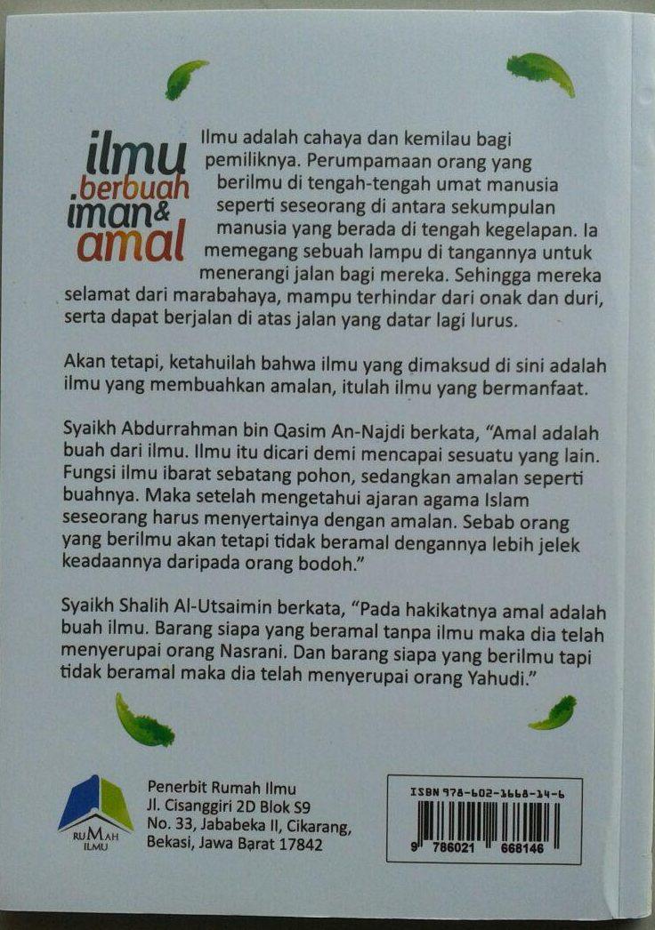 Buku ILmu Berbuah Iman & Amal cover