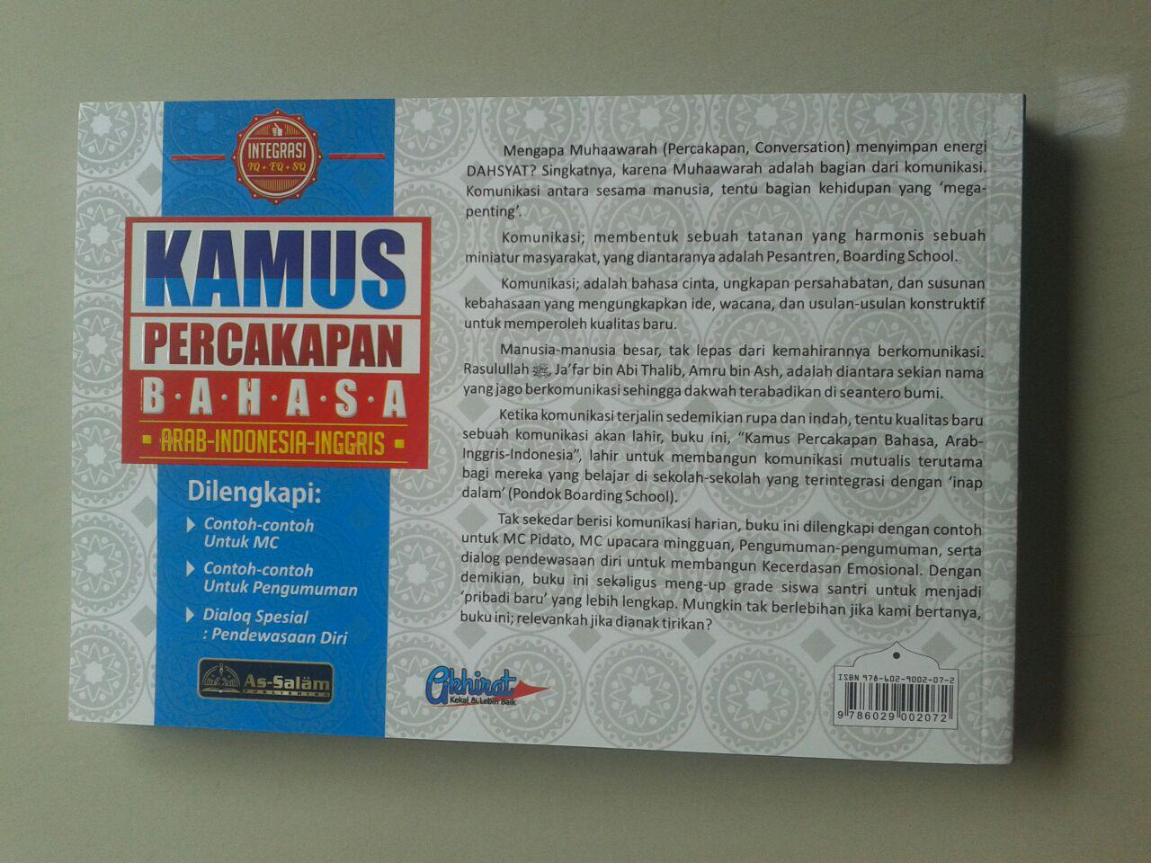 Buku Kamus Percakapan Bahasa Arab-Indonesia-Inggris cover