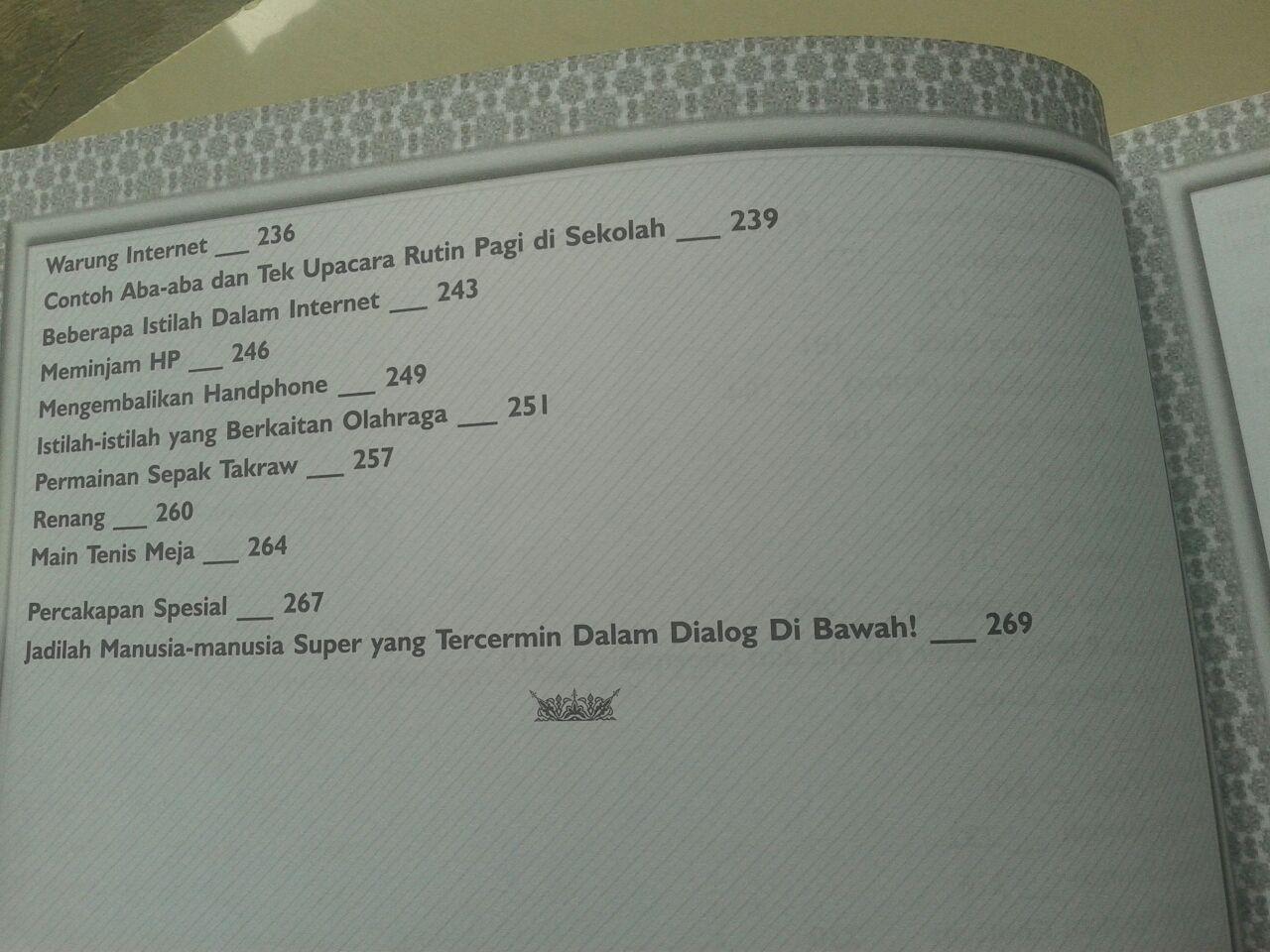 Buku Kamus Percakapan Bahasa Arab-Indonesia-Inggris isi 2