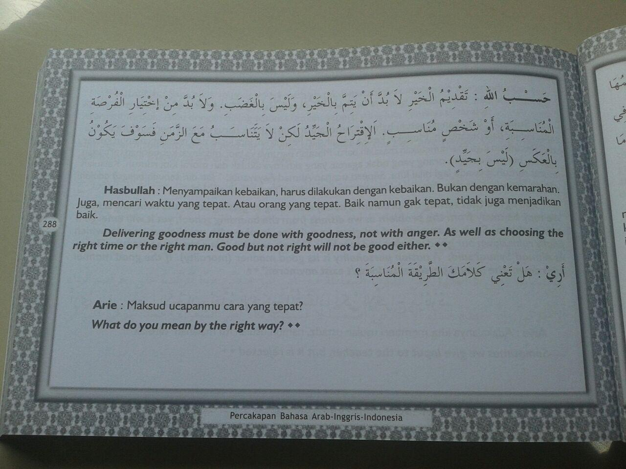 Buku Kamus Percakapan Bahasa Arab-Indonesia-Inggris isi