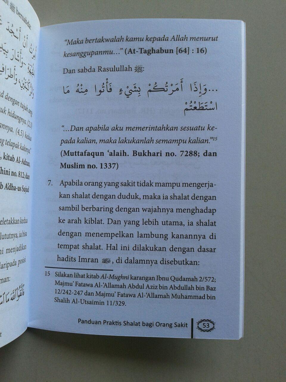 Buku Saku Panduan Praktis Shalat Bagi Orang Sakit Menurut Sunnah isi 2