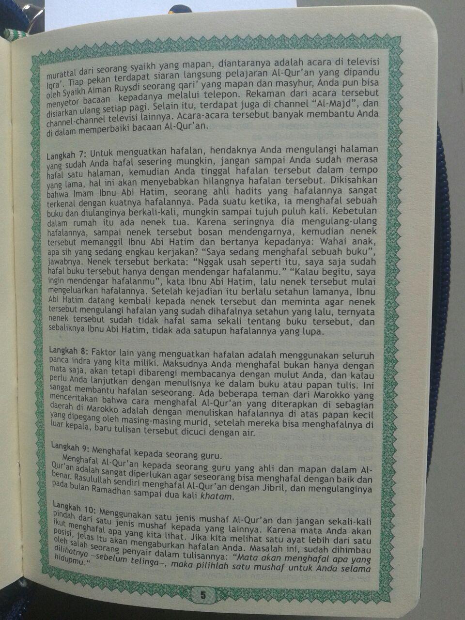 Al-Qur'an Hafalan Mushaf Saku Sampul Ritsliting isi