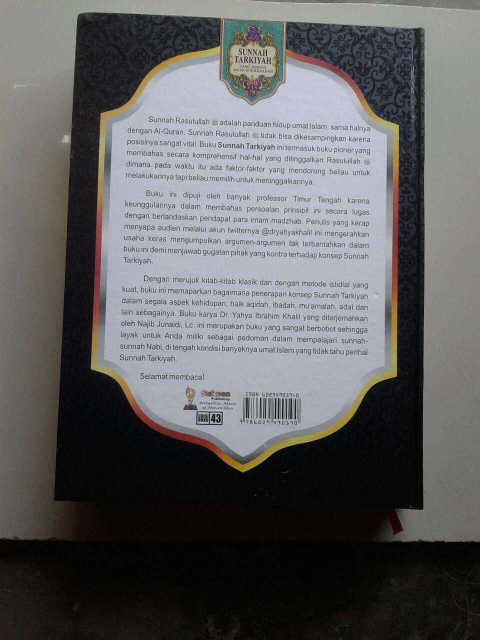 Buku Sunnah Tarkiyah Yang Sunnah Untuk Ditinggalkan cover
