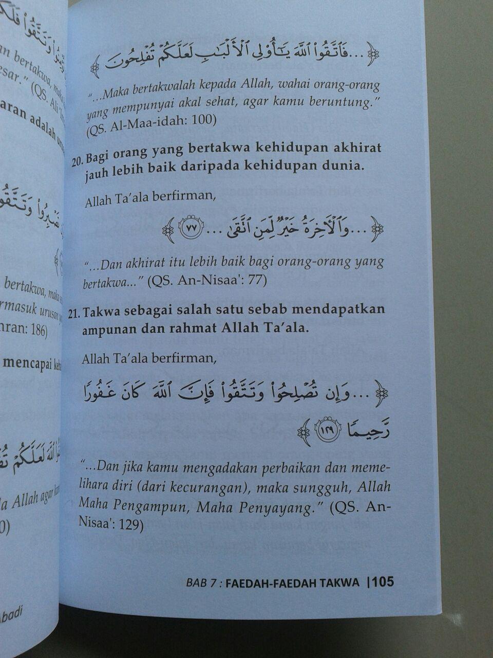 Buku Takwa Jalan Sukses Abadi isi