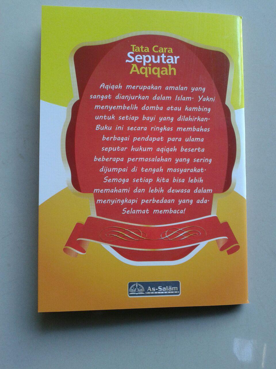 Buku Saku Seputar Aqiqah Berdasarkan Al-Quran & As-Sunnah Ash-Shahihah cover