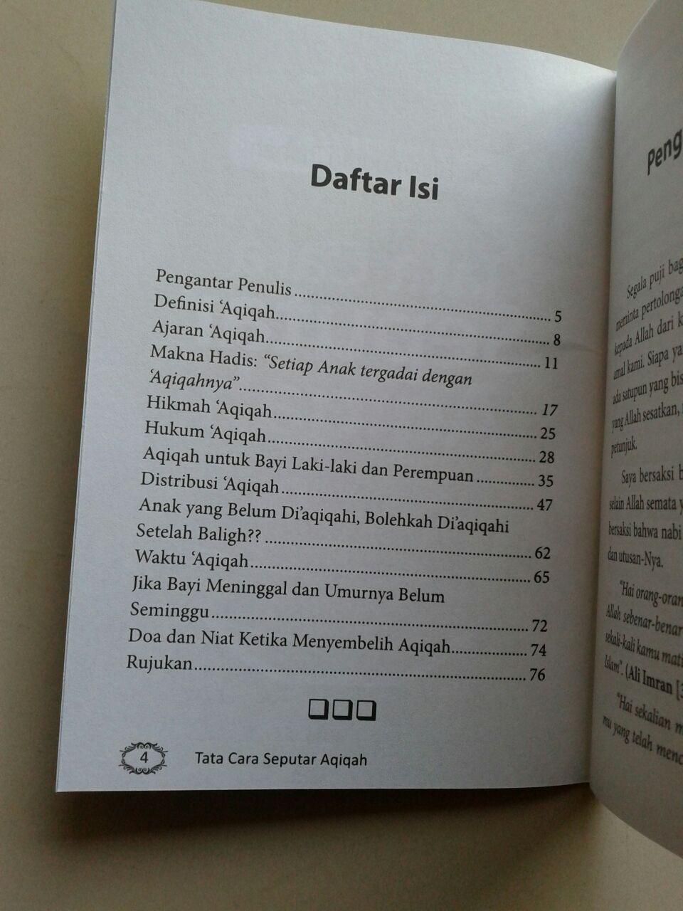 Buku Saku Seputar Aqiqah Berdasarkan Al-Quran & As-Sunnah Ash-Shahihah isi 2