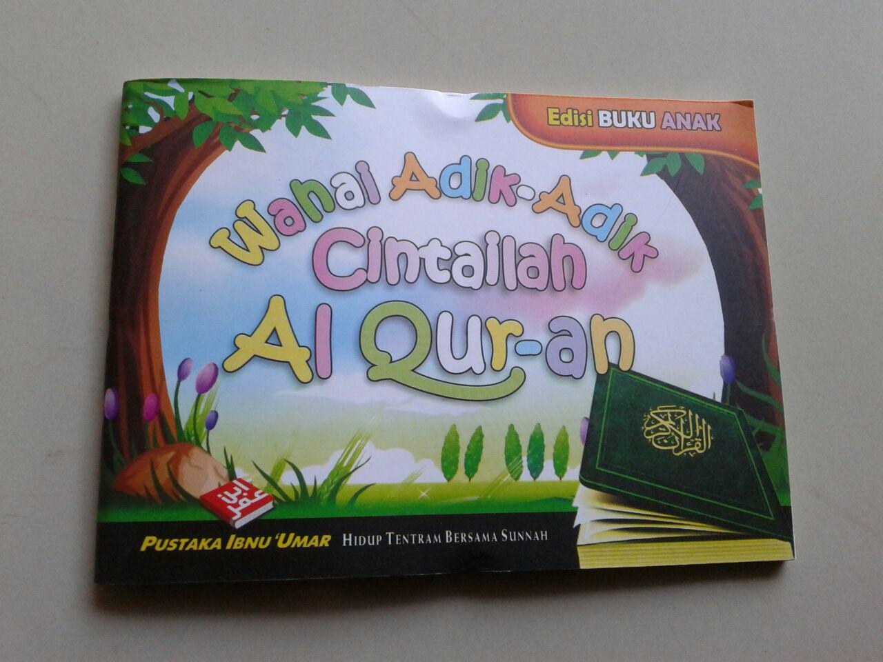 Buku Saku Wahai Adik Adik Cintailah Al Qur'an cover