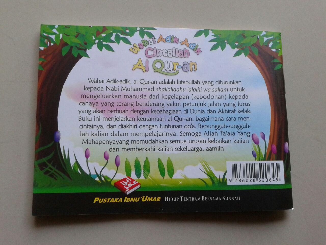 Buku Saku Wahai Adik Adik Cintailah Al Qur'an cover 2