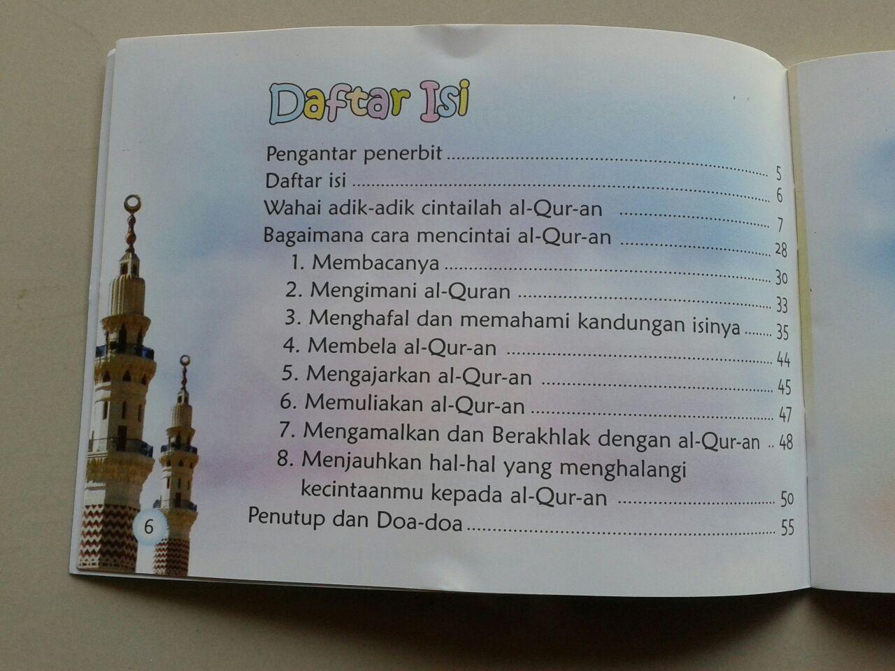 Buku Saku Wahai Adik Adik Cintailah Al Qur'an isi
