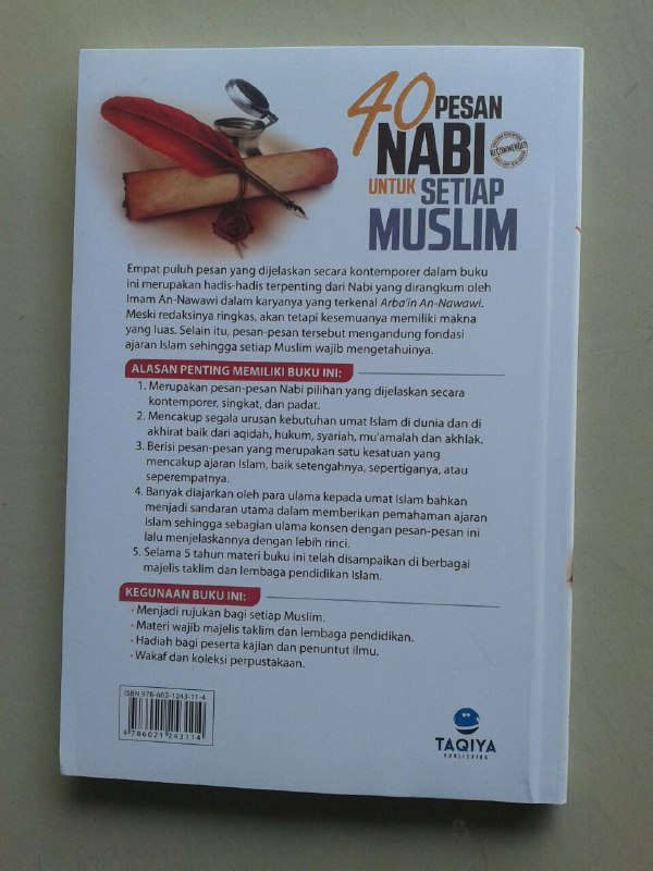 Buku 40 Pesan Nabi Untuk Setiap Muslim cover 2