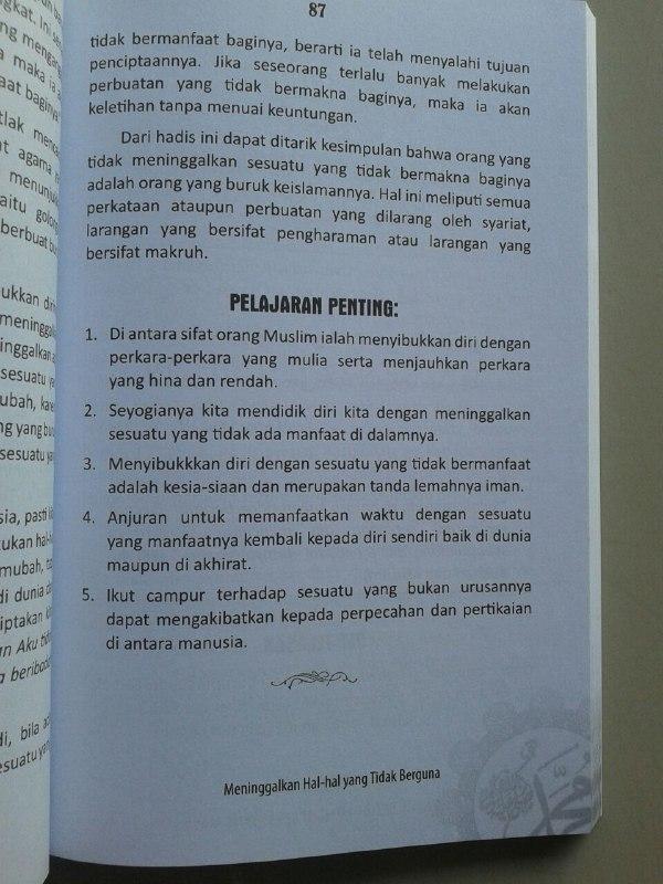 Buku 40 Pesan Nabi Untuk Setiap Muslim isi