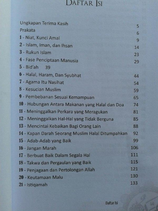 Buku 40 Pesan Nabi Untuk Setiap Muslim isi 2